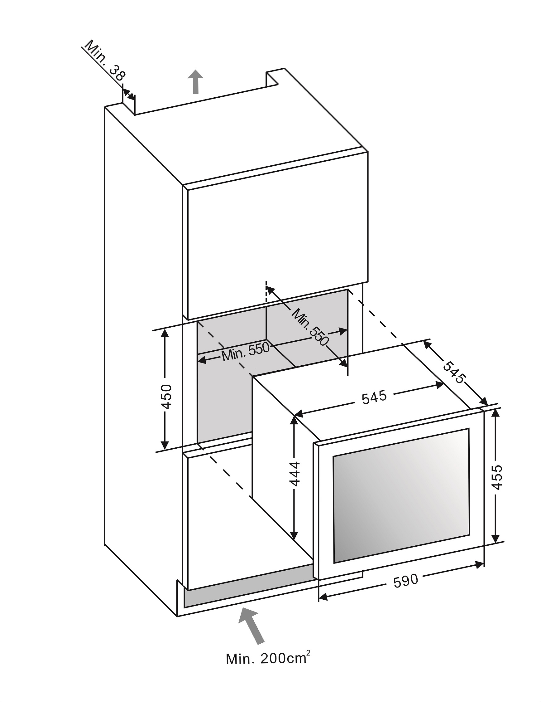 Built in drawing mQuvée WineMaster 24