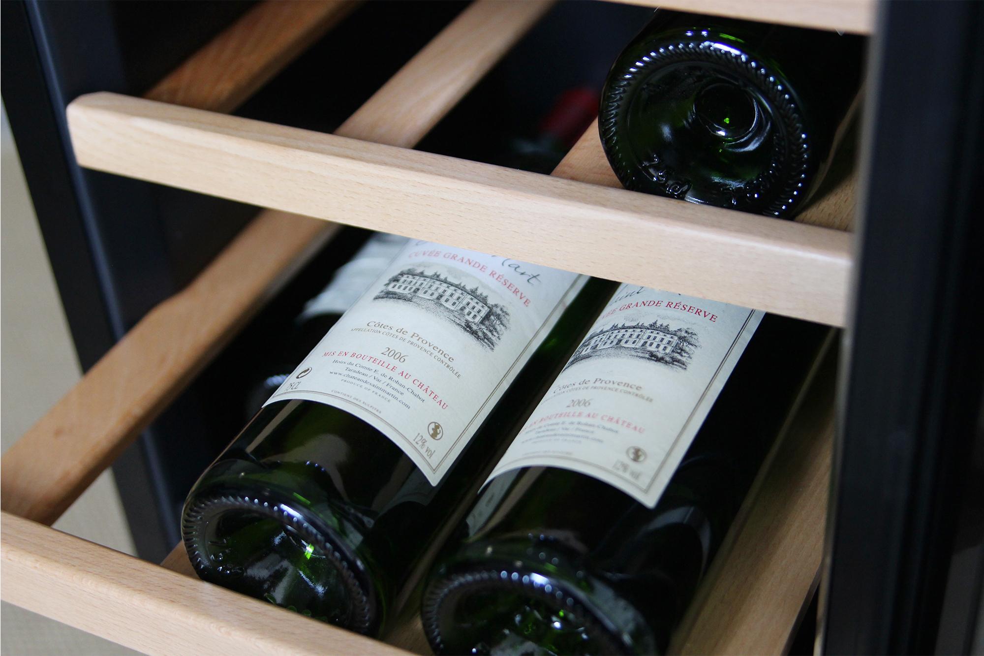 Fristående vinkyl - 24 flaskor - detalj