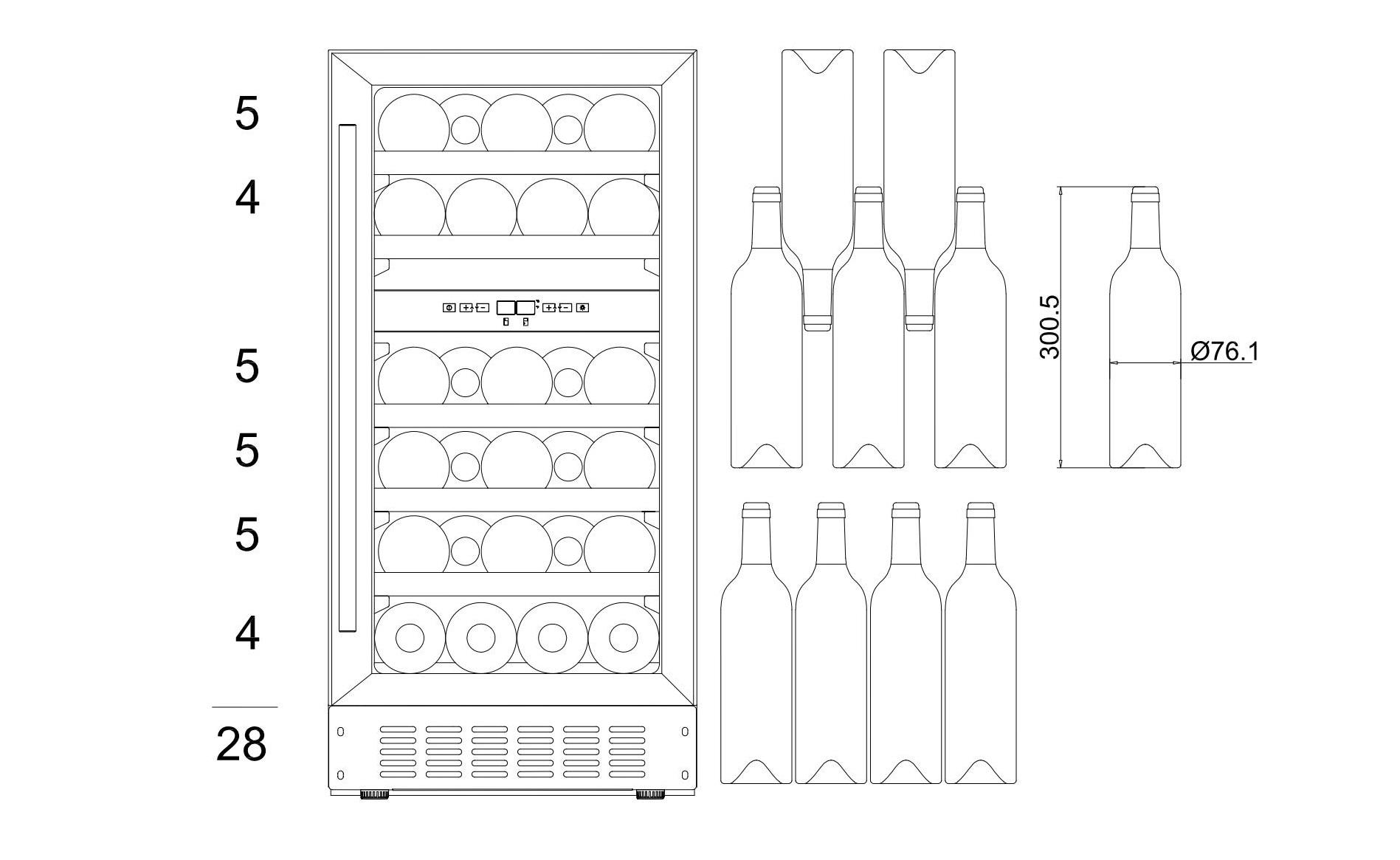 Bottle loading plan mQuvée