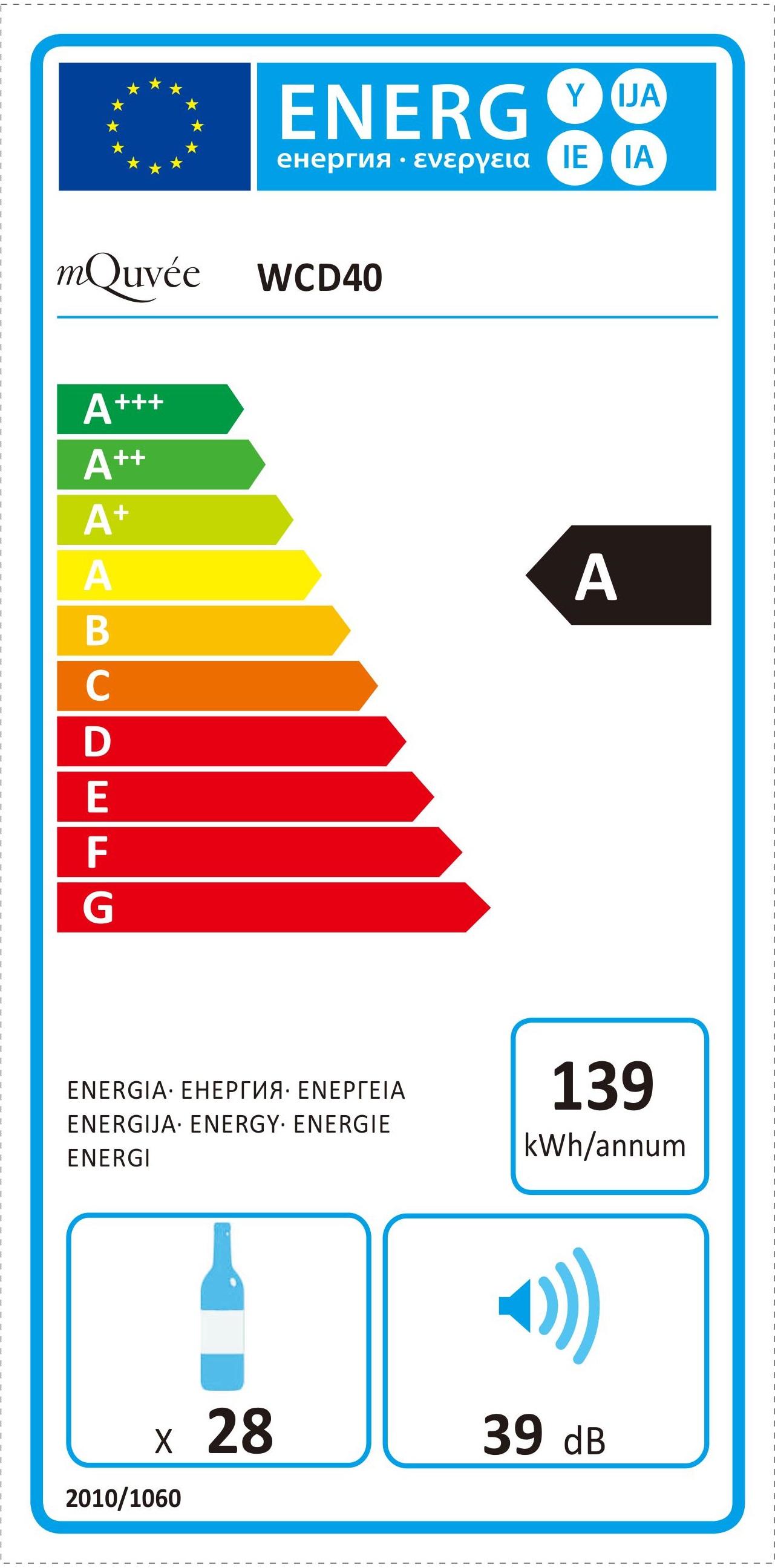 Energylabel mQuvée WineCave 40D