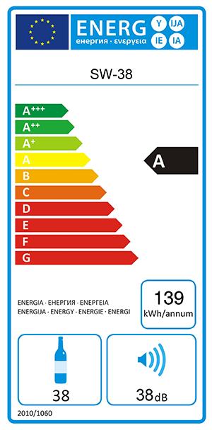 Energylabel mQuvée WineExpert 38
