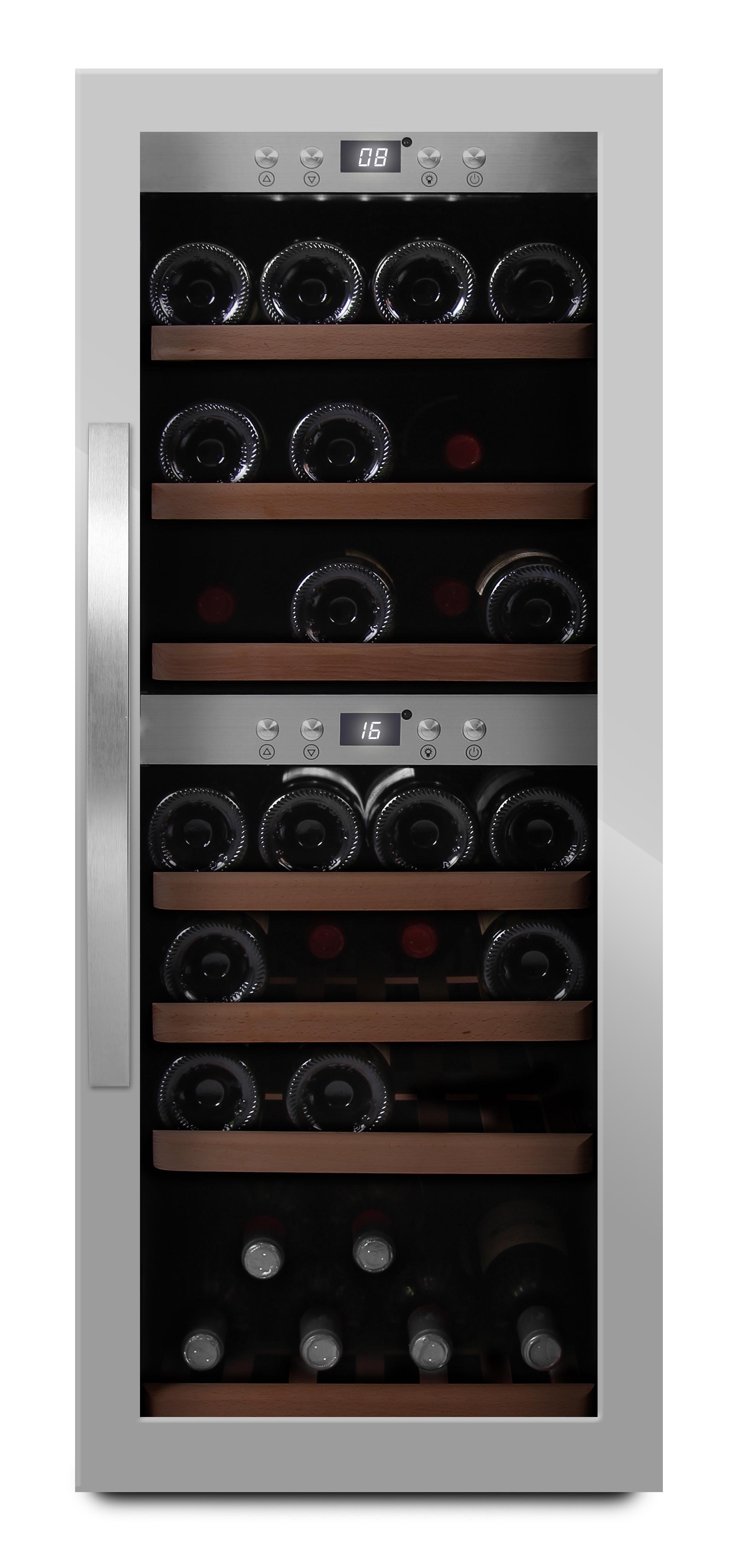 mQuvée - fristående vinkyl i rostfri design
