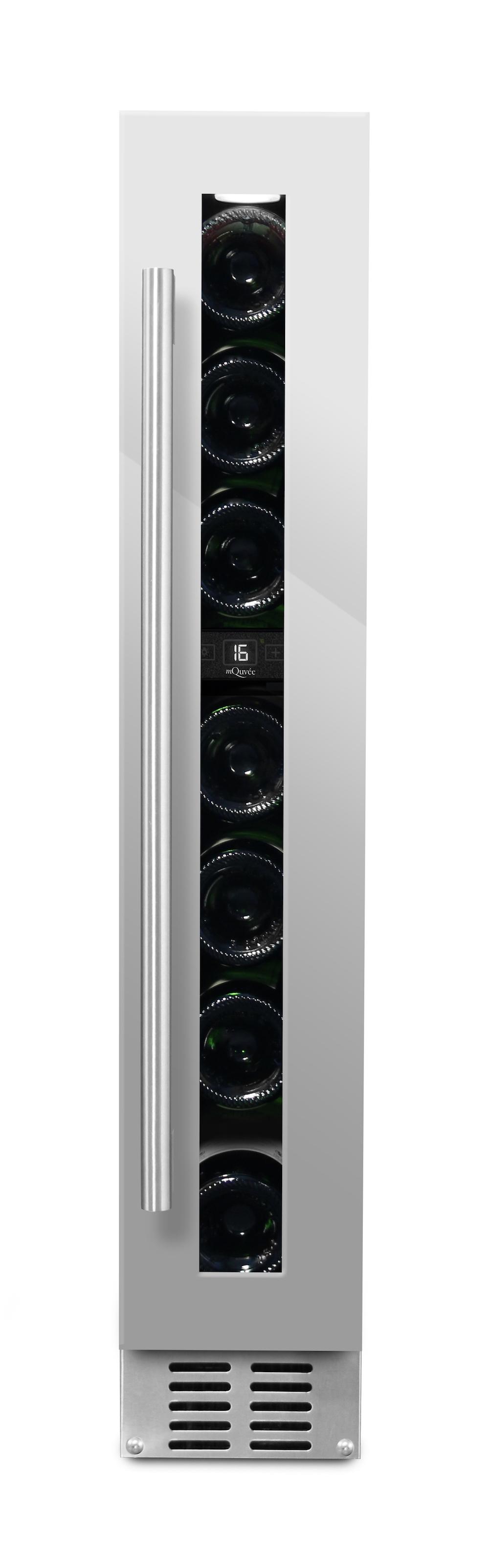 mQuvee inbyggbar rostfri vinkyl med 7 flaskor