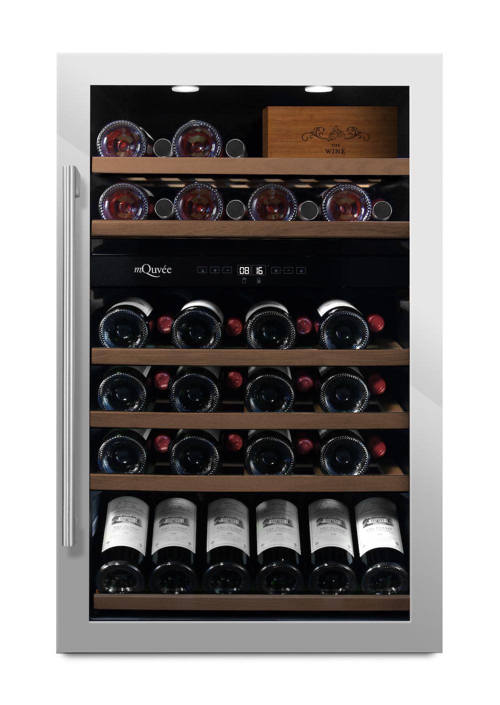 mQuvée - rostfri fristående vinkyl - rymmer 57 flaskor