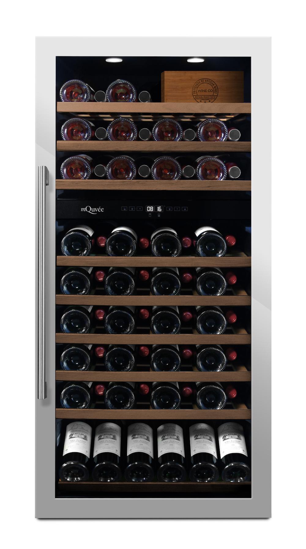 mQuvée - rostfri fristående vinkyl - rymmer 87 flaskor