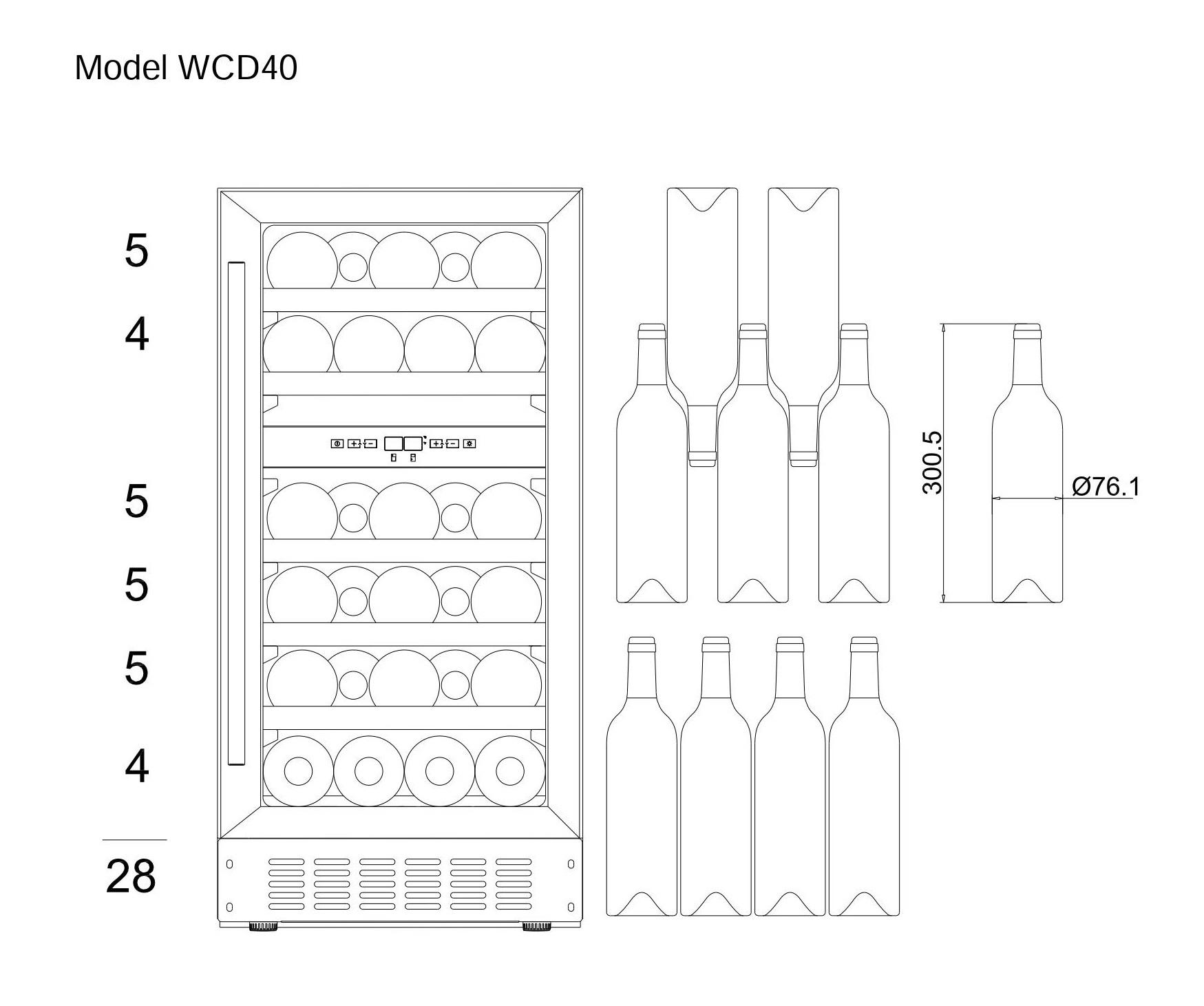 Bottle loadin plan mQuvée WineCave 40D