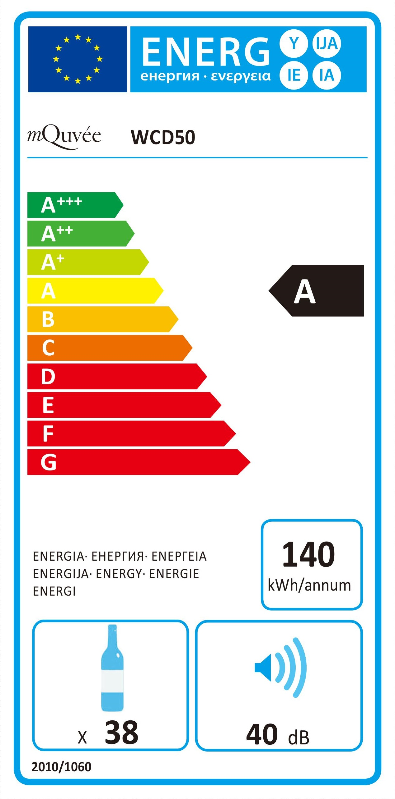 Energylabel WineCave 50D mQuvée
