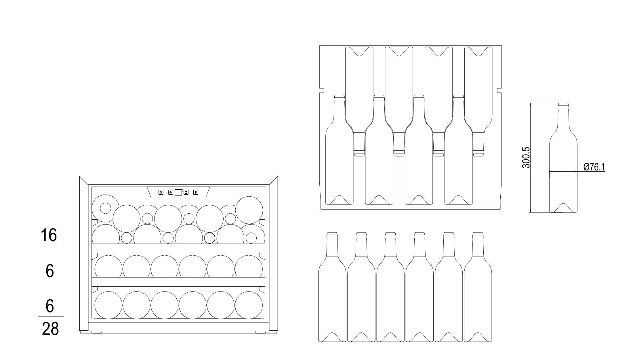 Bottle loading plan mQuvée WineMaster 24S