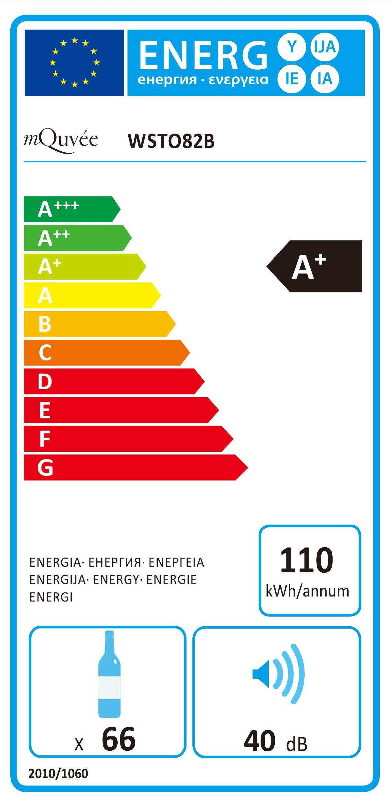 Energylabel mQuvée WineStore 82