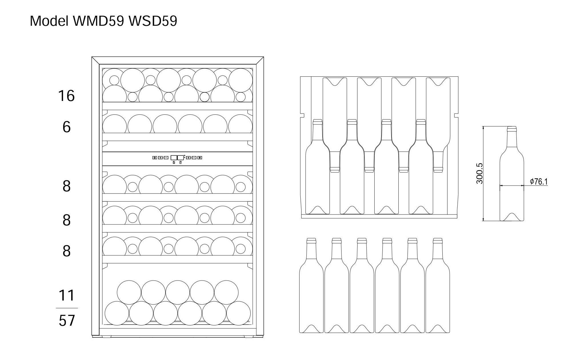 Bottle loading plan mQuvée WineMaster 59D