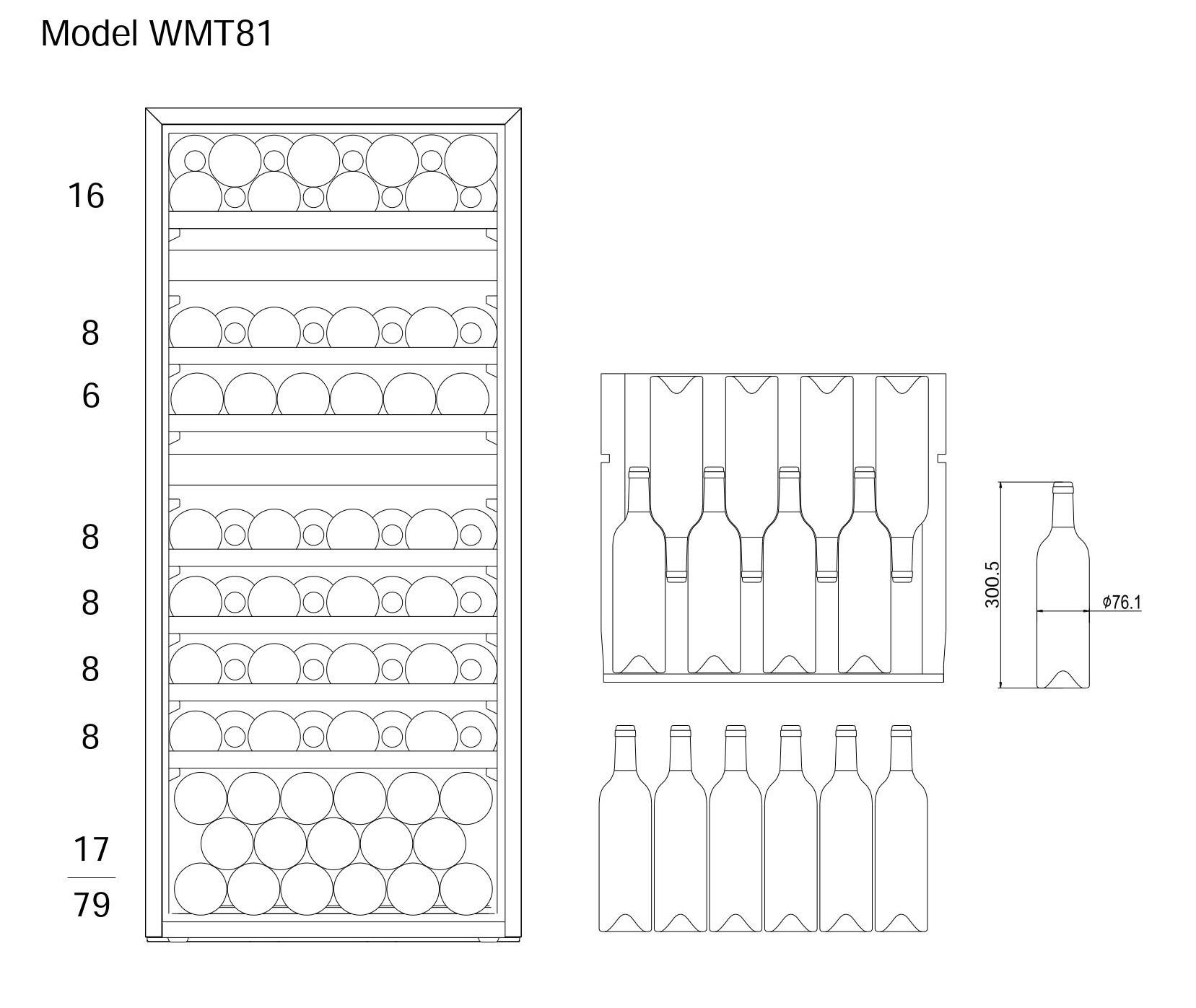 Bottle loading plan mQuvée WineMaster 81T