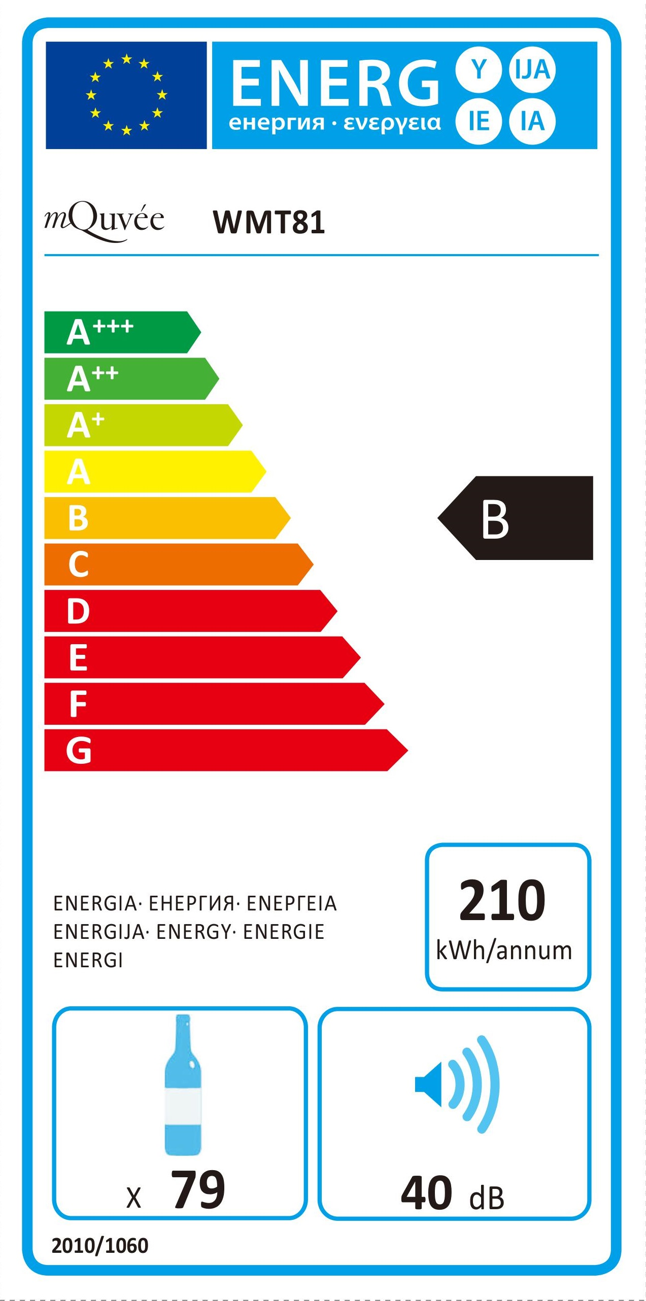 Energylabel mQuvée WineMaster 81T