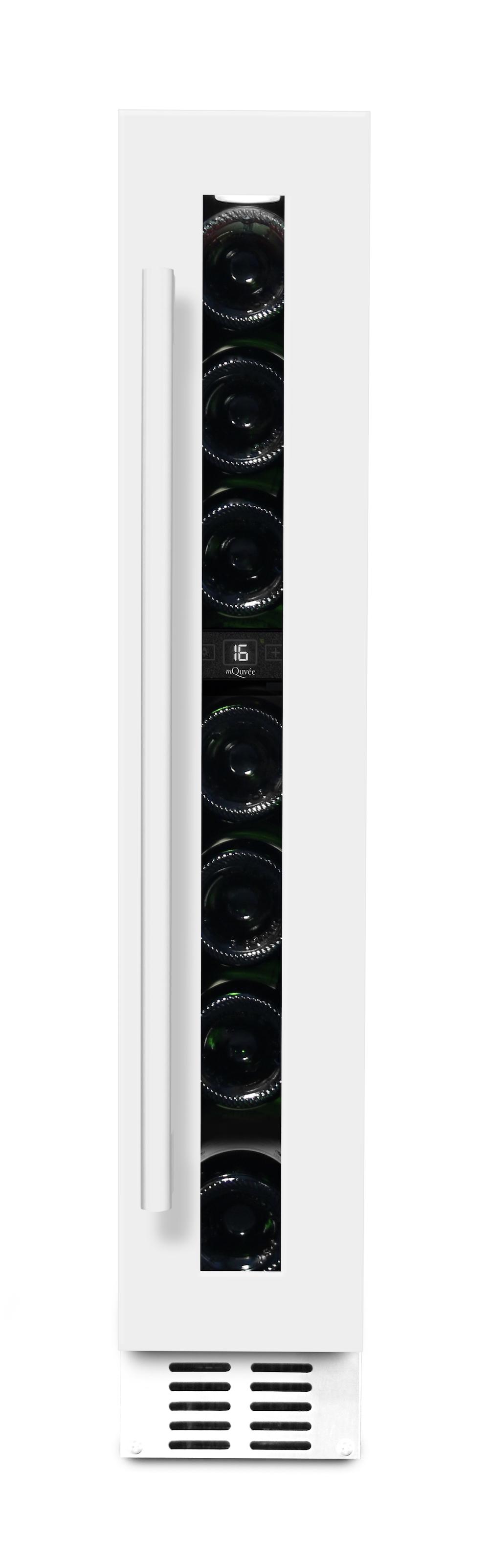 mQuvee inbyggbar vit vinkyl med 7 flaskor