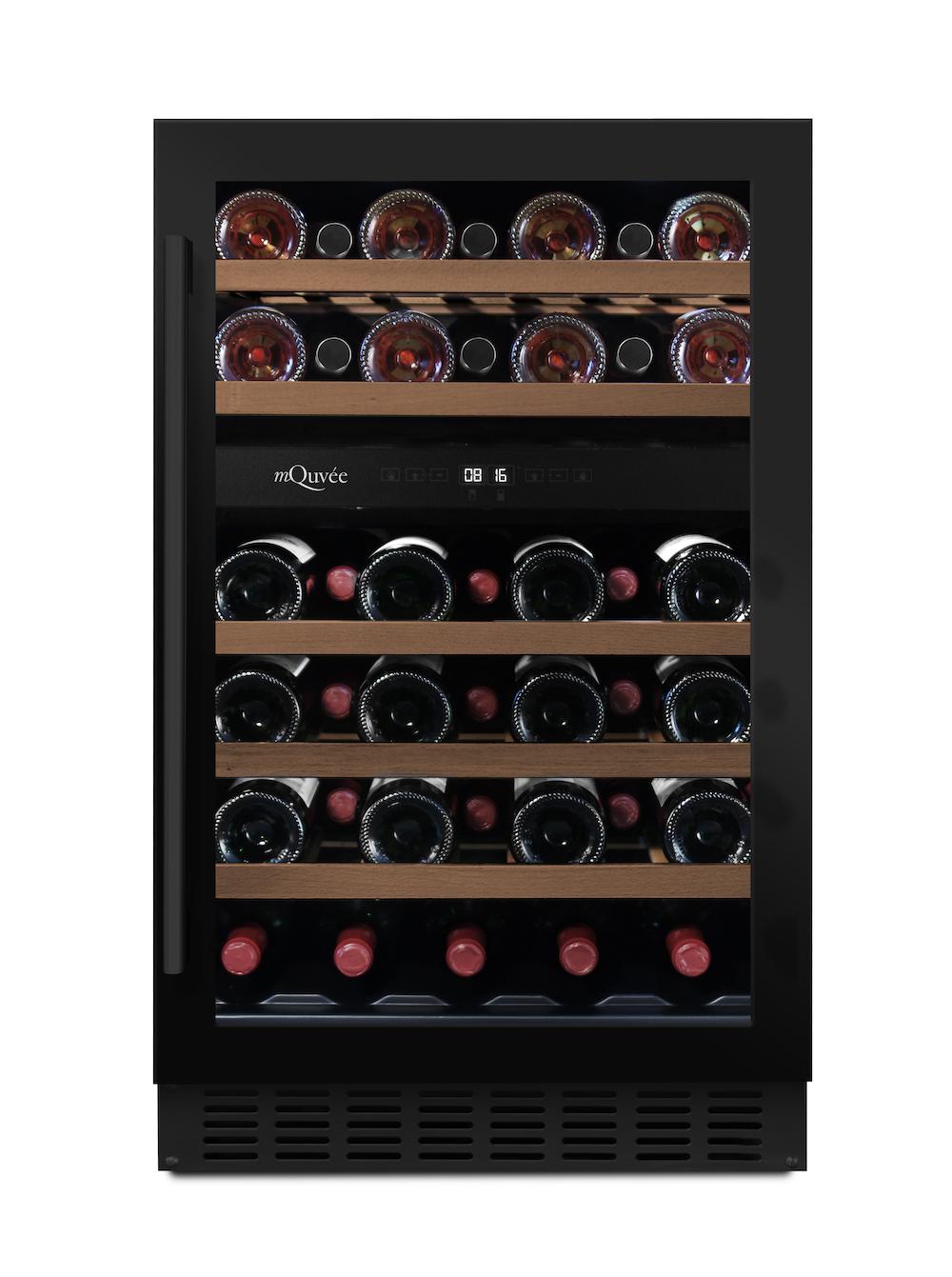 Inbyggbar svart vinkyl från mQuvee