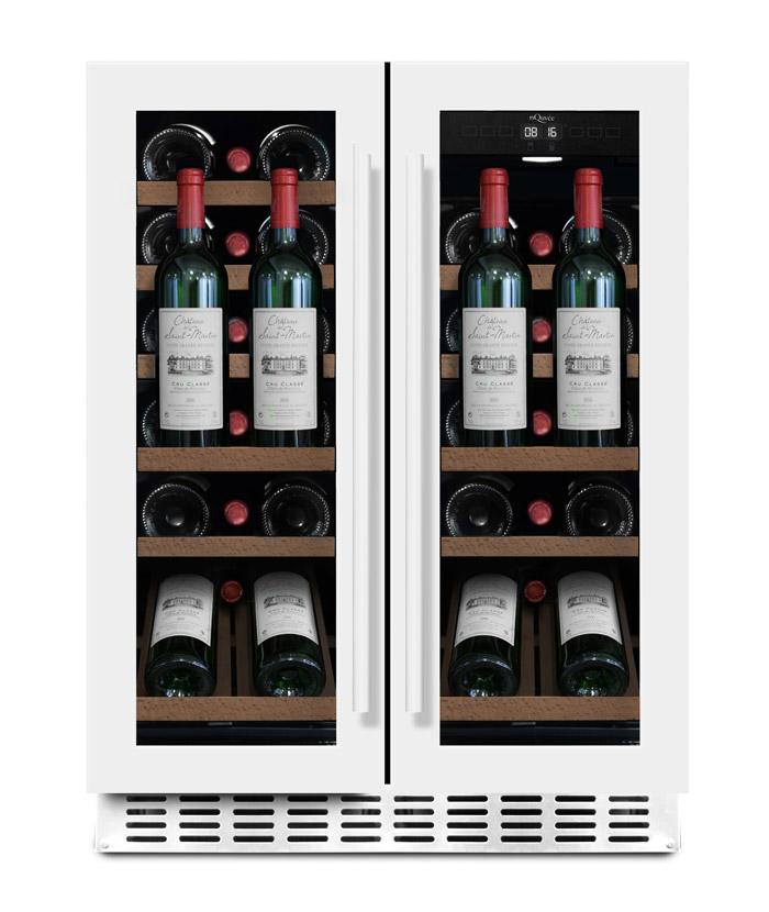 mQuvée - vit inbyggbar vinkyl med presentationshylla