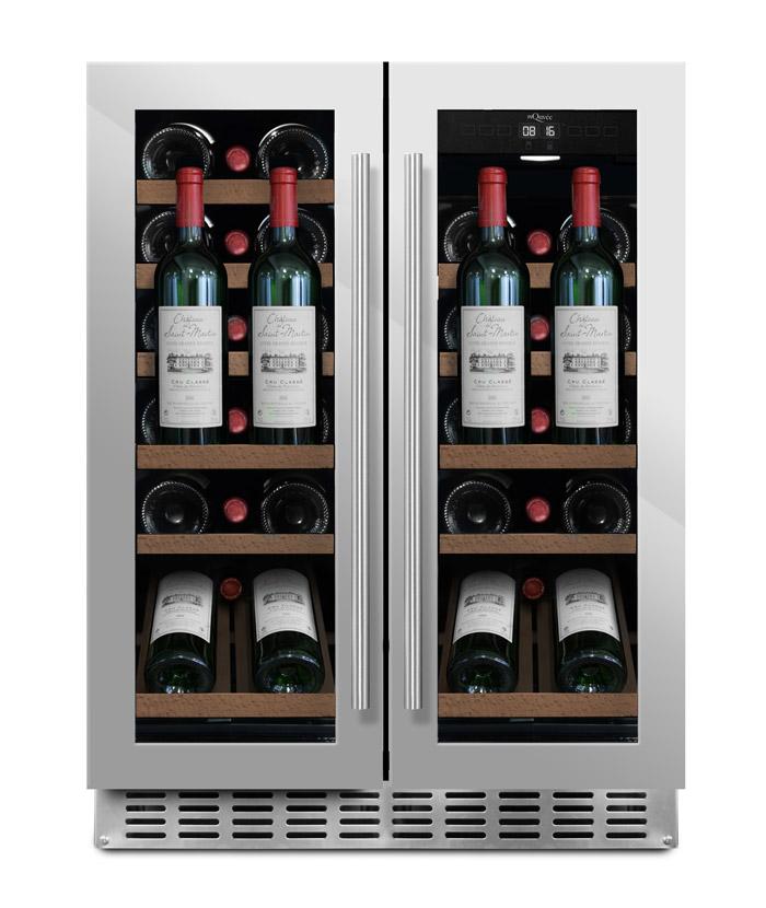 mQuvée - rostfri inbyggbar vinkyl med presentationshylla