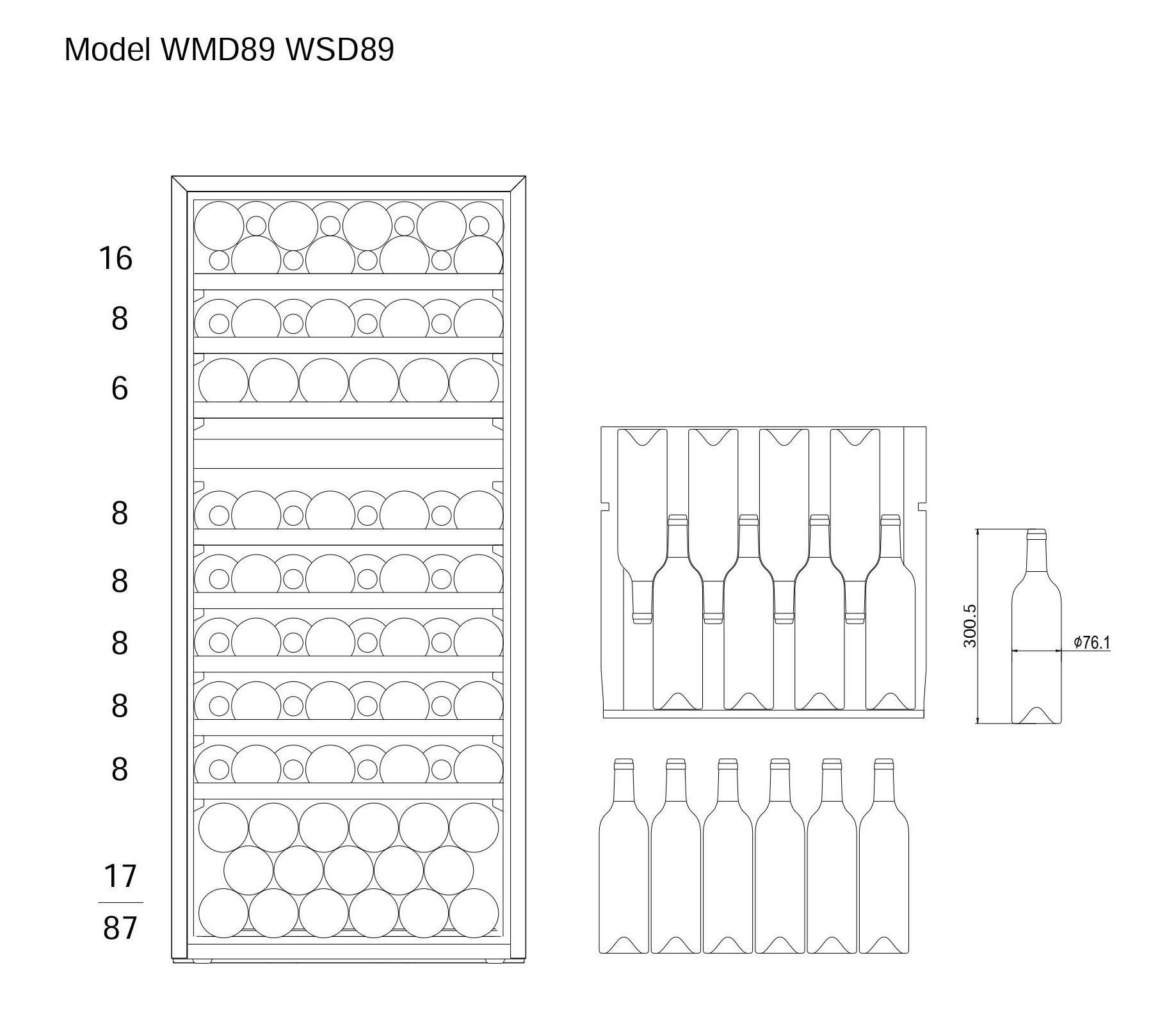 Bottle loading plan mQuvée WineMaster 89D