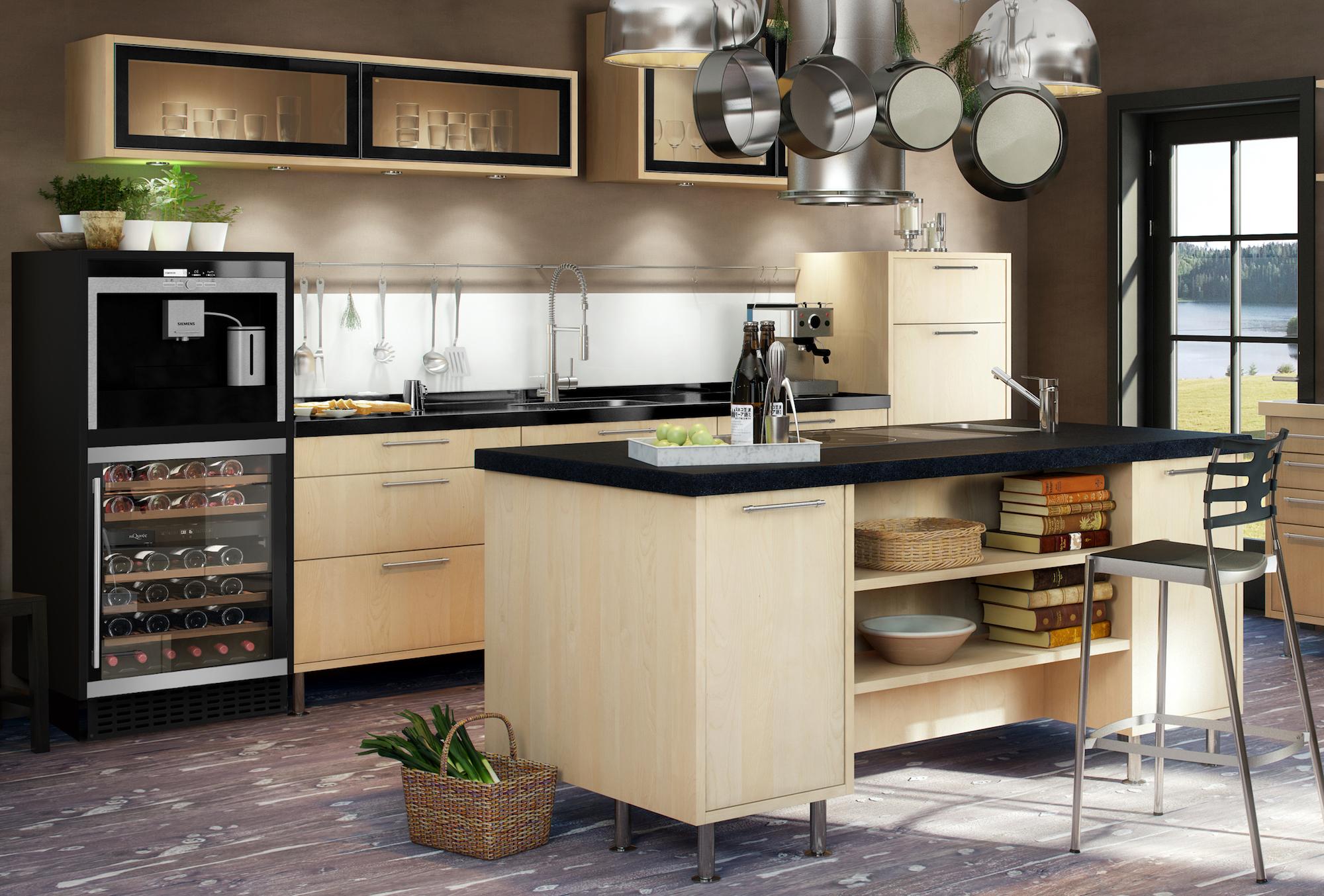 Vinkyl från mQuvee inbyggd i modernt kök