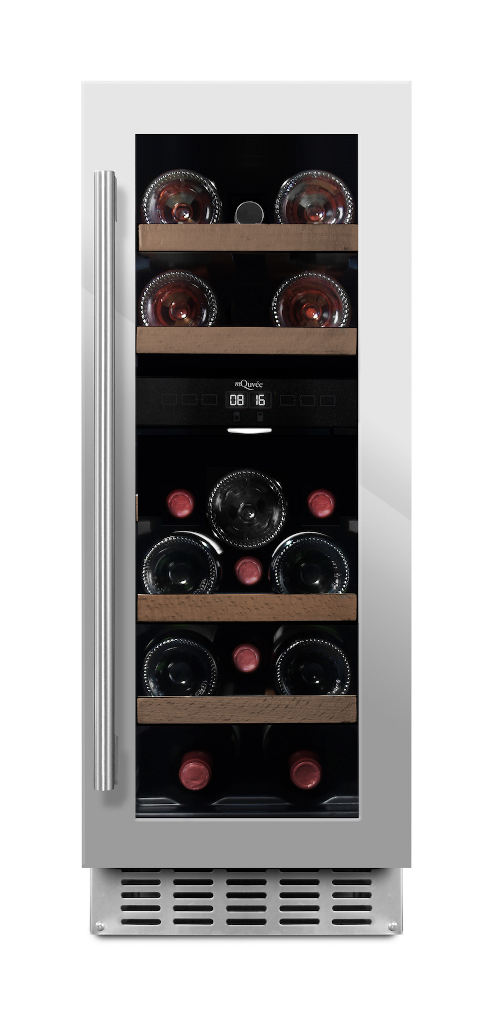 Inbyggbar rostfri vinkyl från mQuvee - plats för 16 flaskor