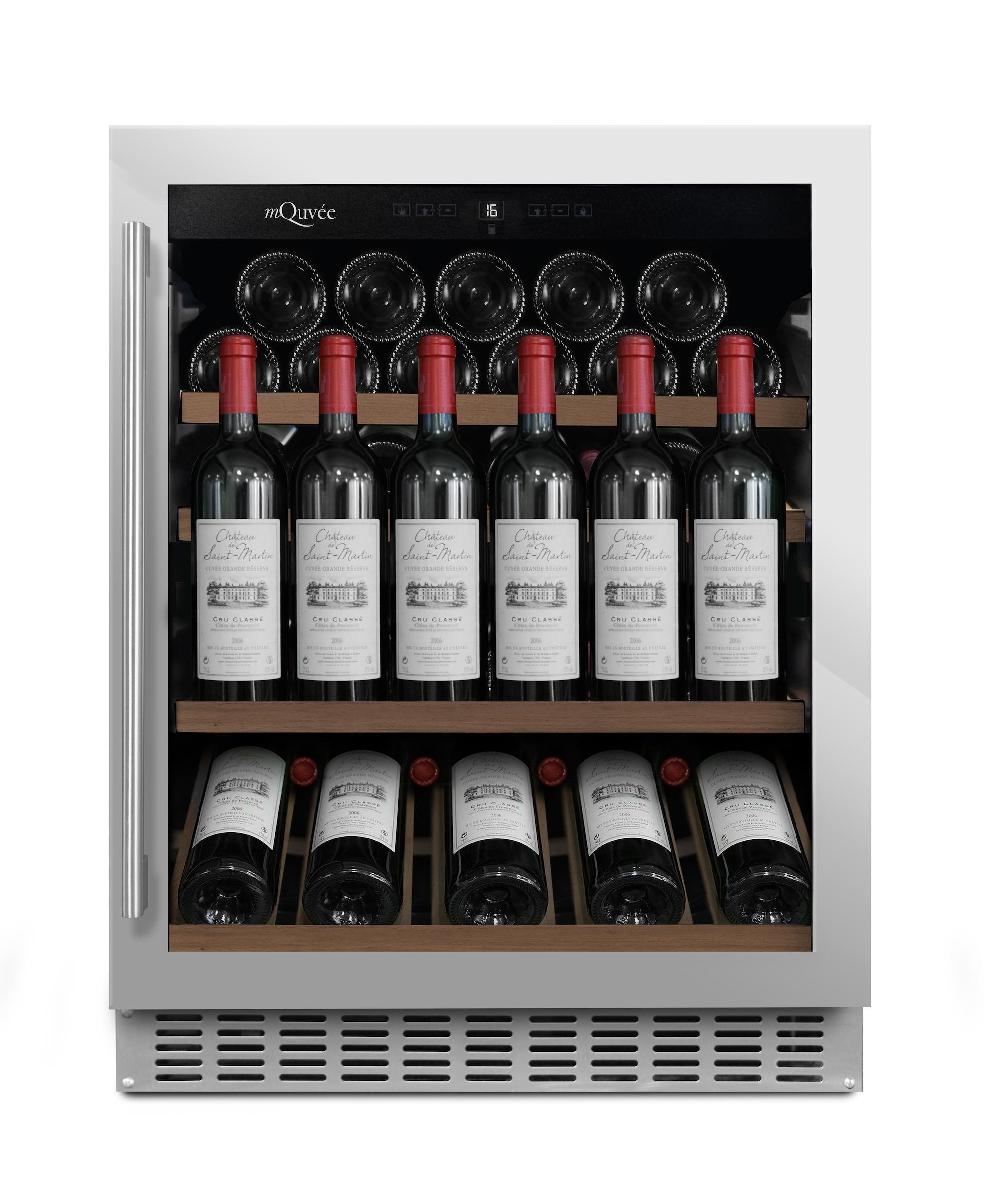 mQuvee - inbyggbar vinkyl med presentationshylla