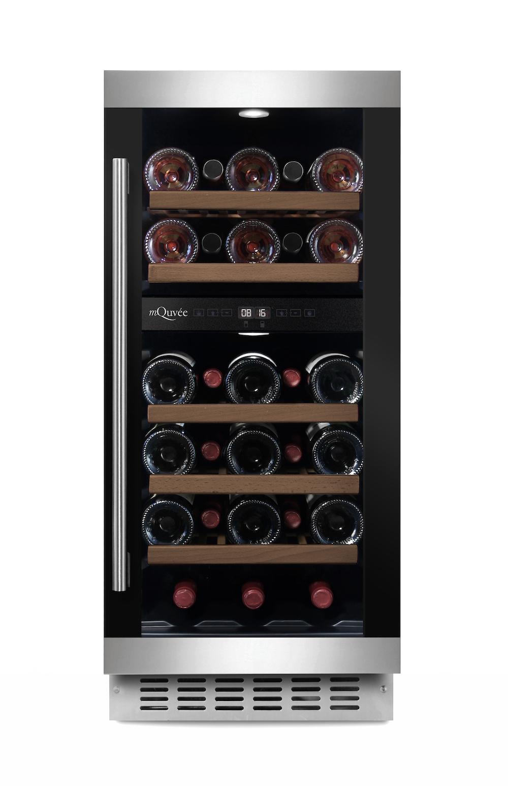 Inbyggbar vinkyl från mQuvee i modern design - plats för 28 flaskor