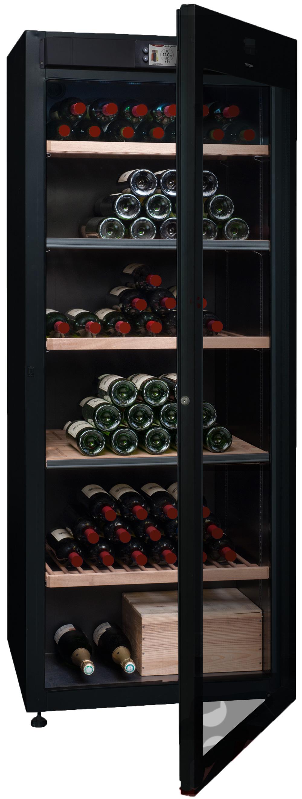 Multitemperatursskåp med plats för 294 flaskor