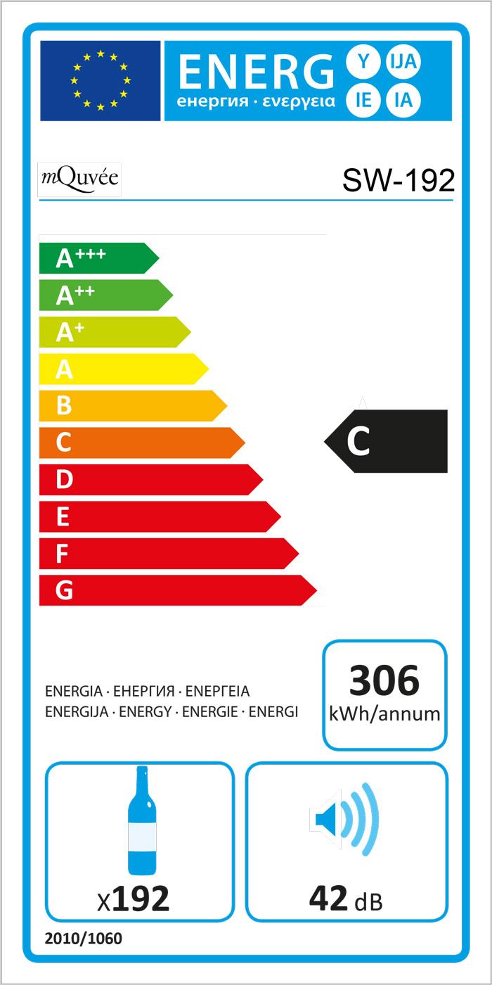 Energylabel mQuvée WineExpert 192