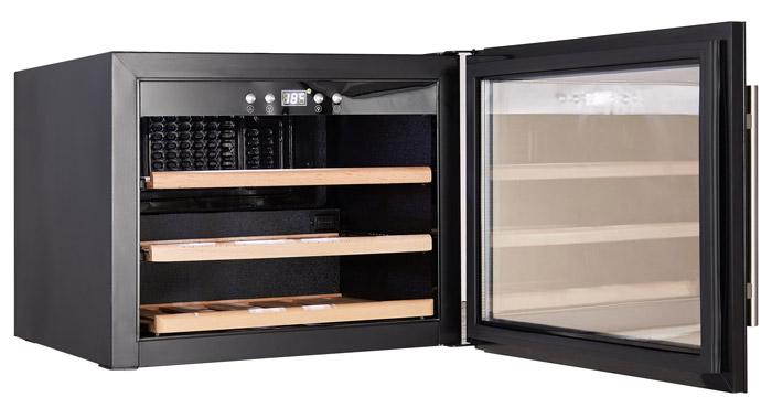Integrerbar vinkyl i svart design från Cavin