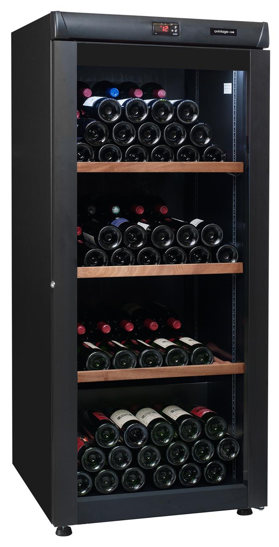 Mellanstort svart vinlagringsskåp från Avintage