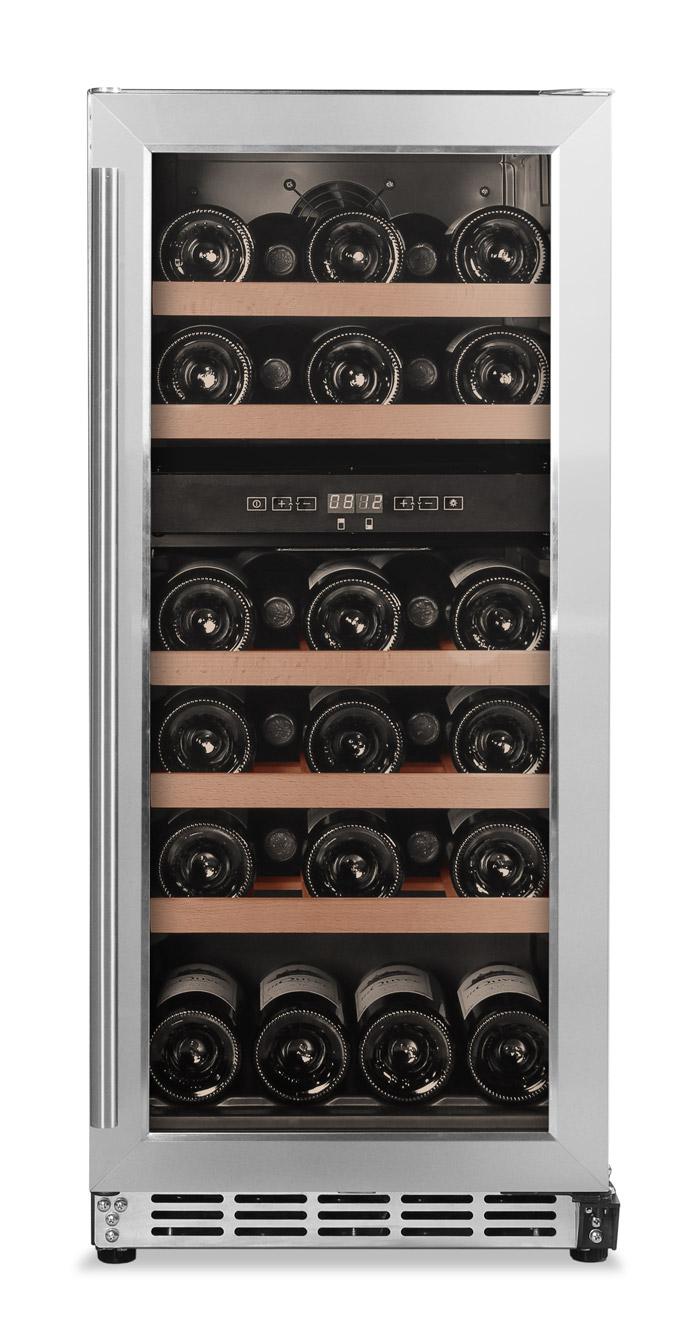 Inbyggbar vinkyl i rostfritt från Cavin