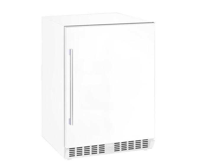 Vinlagringsskåp med vit solid dörr