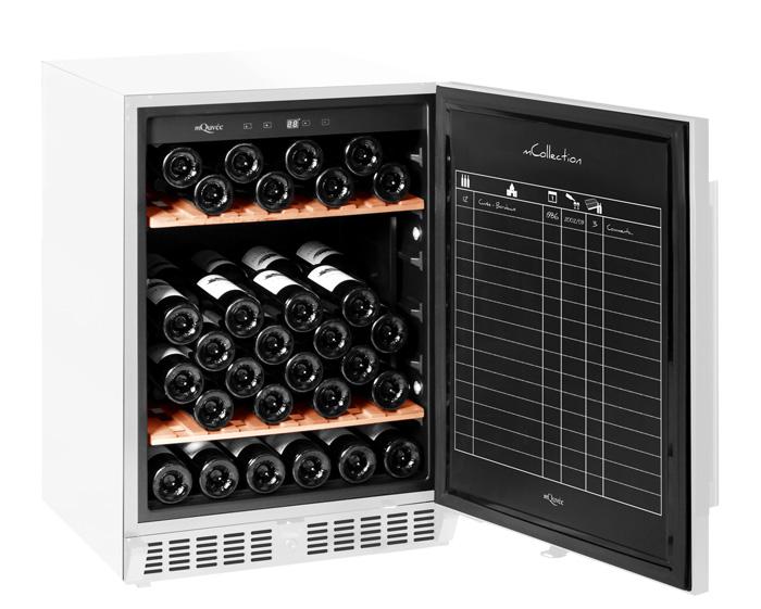 Litet vinlagringsskåp i vit design från mQuvée