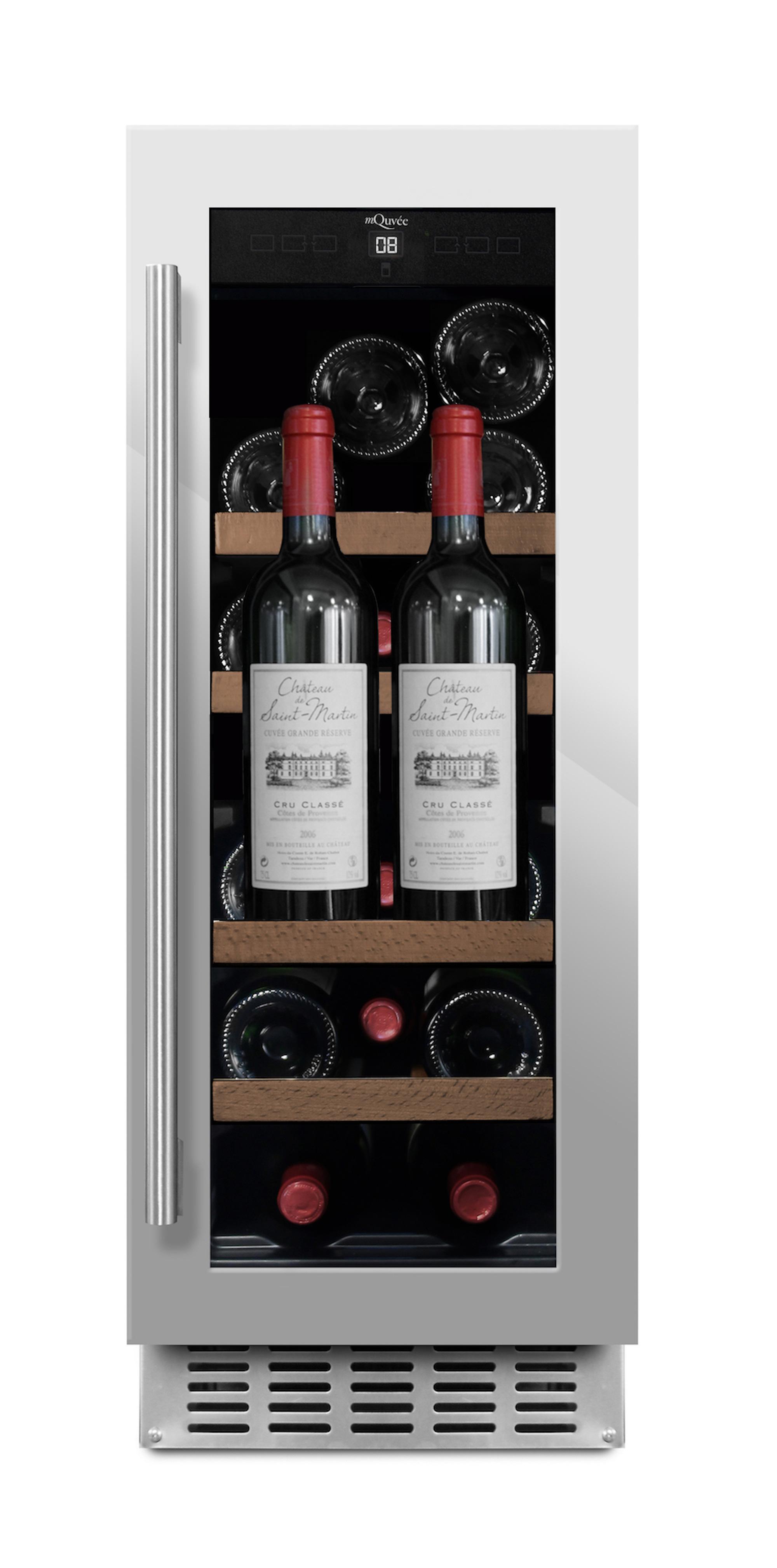 Inbyggbar vinkyl från mQuvee med presentationshylla
