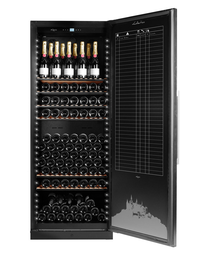 Exklusivt vinlagringsskåp med plats till 287 flaskor