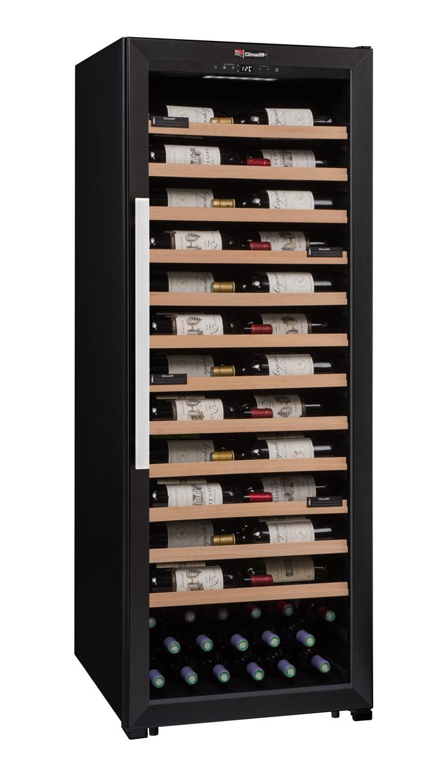 Svart vinlagrings- och multifunktionsskåp från Climadiff
