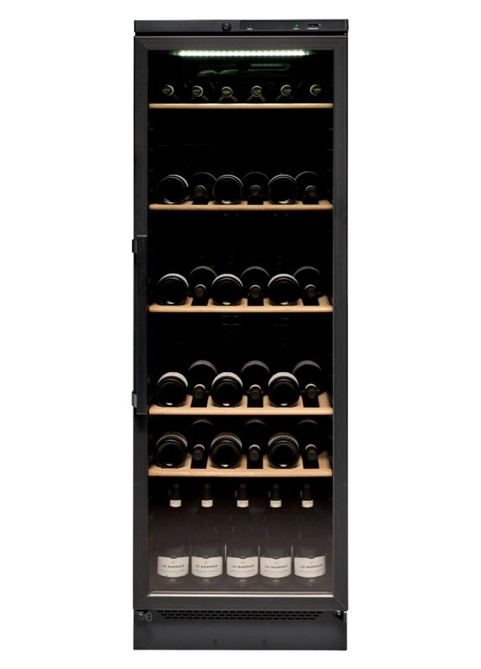 Fristående vinkyl i helsvart design