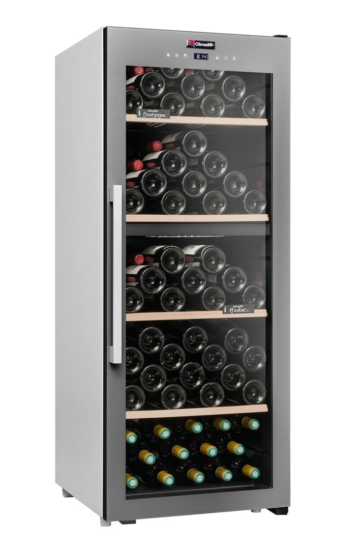 Climadiff Grå fristående vinkyl - rymmer 110 flaskor