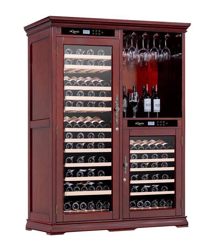 Pampigt vinlagringsskåp från American Oak i rödbrun design