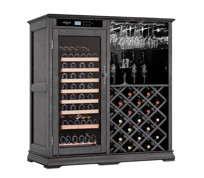 Elegant vinlagringsskåp i svart design