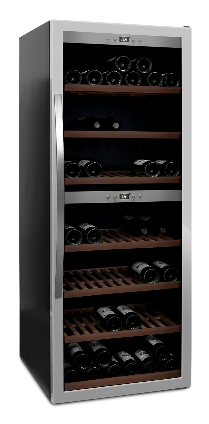 mQuvée - fristående vinkyl i stainless - rymmer 126 flaskor