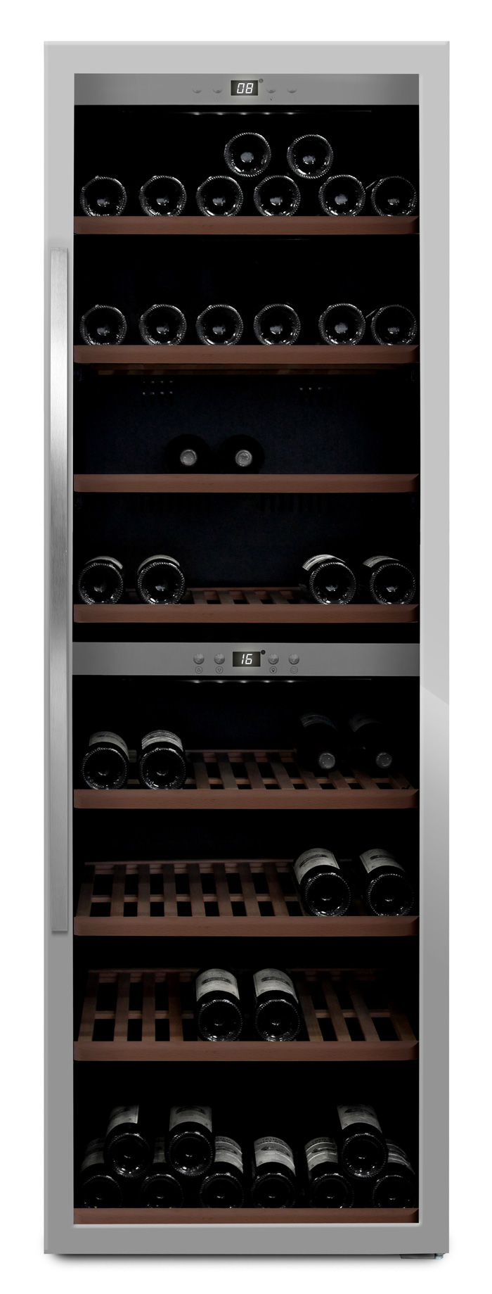 mQuvée - rostfri fristående vinkyl - rymmer 180 flaskor