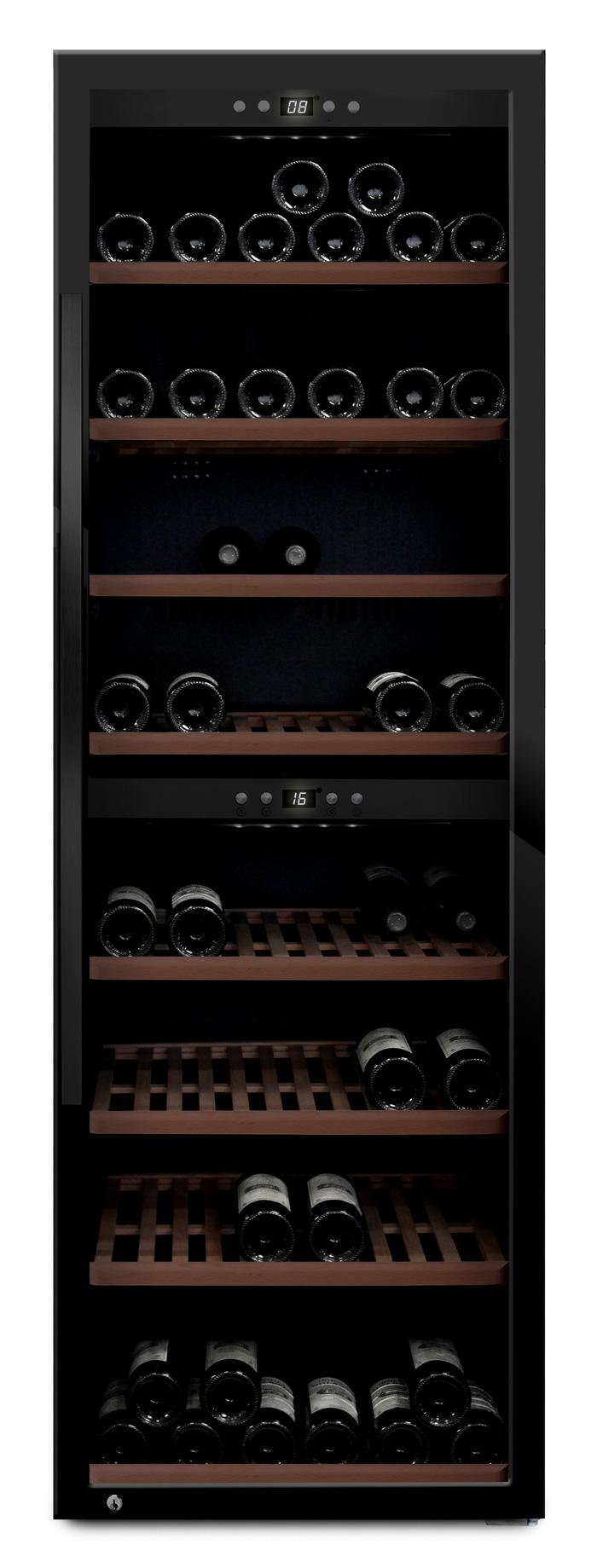 mQuvée - svart fristående vinkyl - rymmer 180 flaskor