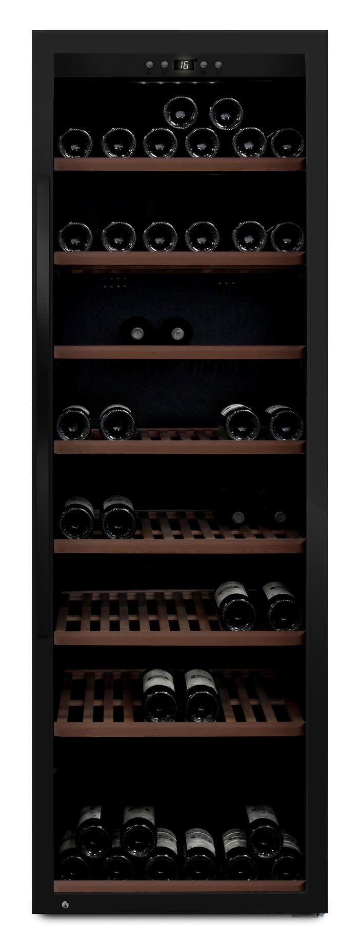 mQuvée - svart fristående vinkyl - rymmer 192 flaskor