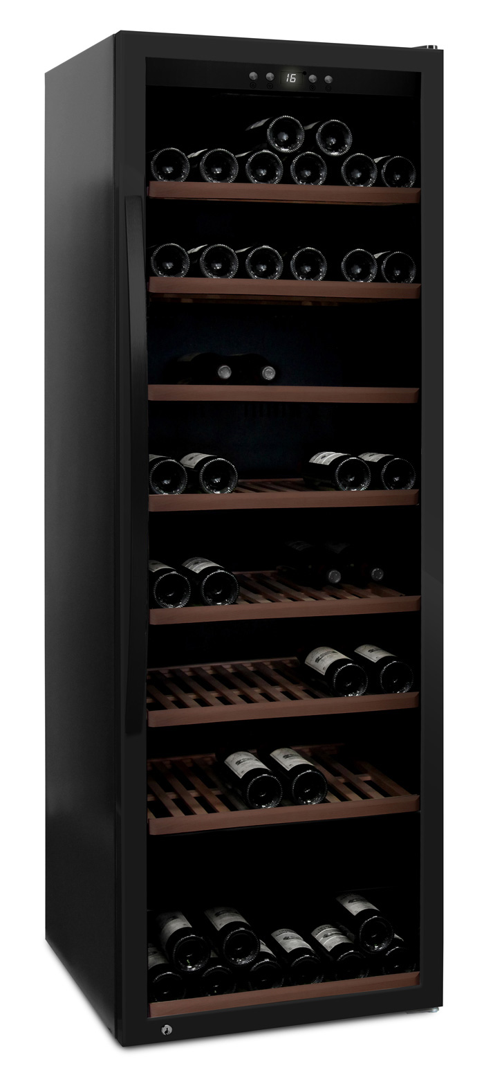 mQuvée - fristående vinkyl i fullglass black - rymmer 192 flaskor