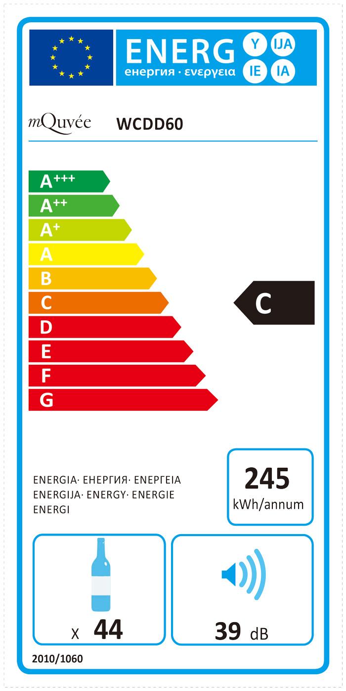 mQuvée Energylabel Winecave 60DD